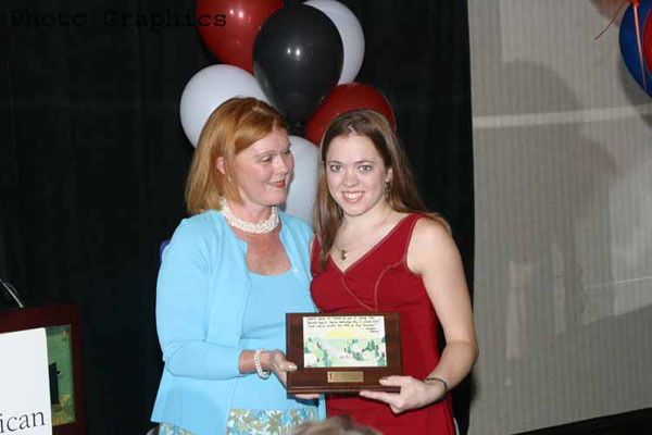 Krista Kosbab Receiving Award